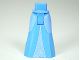 Part No: 15875c00pb002  Name: Mini Doll Friends Hips and Full Length Skirt with Bright Light Blue Sides and Middle Triangle with Stars Pattern
