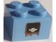 Part No: 3003pb133  Name: Brick 2 x 2 with Fuel (Gas) Cap Pattern (Sticker) - Set 8677