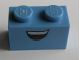 Part No: 3004pb102  Name: Brick 1 x 2 with Open Mouth Smile Pattern (Guido)