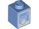 Part No: 3005pb044  Name: Brick 1 x 1 with Glass Pattern (Milk Carton)