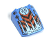 Part No: 30602pb004  Name: Slope, Curved 2 x 2 Lip, No Studs with Orange/Black Chevrons Pattern (Frost)