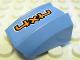 Part No: 30602pb043L  Name: Slope, Curved 2 x 2 Lip, No Studs with Orange '4x4' Pattern, Model Left (Sticker) - Set 8657