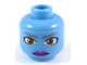 Part No: 3626bpb0472  Name: Minifigure, Head Alien with Large Brown Eyes and Purple Lips Pattern (SW Aayla Secura) - Blocked Open Stud