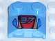 Part No: 41855px1  Name: Brick, Modified 2 x 2 x 2/3 Two Studs, Lip End with '37' and Red / Orange / Blue Pattern