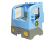 Part No: 48125c03pb01  Name: Duplo Cabin Truck Semi-Tractor Cab with Dark Bluish Gray Base and Recycling Arrows Pattern