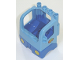 Part No: 48125c05pb01  Name: Duplo Truck Semi-Tractor Cab with Blue Base and Box and Arrows and Globe Pattern