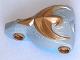 Part No: 50658c01pb01  Name: Large Figure Torso KK with Jayko, Sir Pattern - Series 2 - Gold Hawk Relief