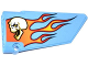 Part No: 64682pb006  Name: Technic, Panel Fairing #18 Large Smooth, Side B with Skull and Flames Pattern (Sticker) - Set 42022