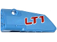 Part No: 64683pb015  Name: Technic, Panel Fairing # 3 Small Smooth Long, Side A with 'LT1' Pattern (Sticker) - Set 42036