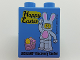 Part No: 76371pb096  Name: Duplo, Brick 1 x 2 x 2 with Bottom Tube with Happy Easter LEGOLAND Discovery Center Pattern