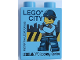 Part No: 76371pb163  Name: Duplo, Brick 1 x 2 x 2 with Bottom Tube with LEGO CITY LEGOLAND Discovery Centre Police Man Pattern