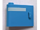 Part No: 92262pb004  Name: Door 1 x 3 x 2 Left - Open Between Top and Bottom Hinge with Horizontal White Line Pattern