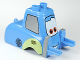 Part No: 95206pb01  Name: Duplo Car Body Forklift Truck with Cars Guido Pattern