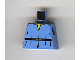 Part No: 973pb0260  Name: Torso SW V-Collar Shirt and High Tie Belt Pattern (Boba Fett Young)