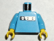 Part No: 973pb0276c01  Name: Torso Gravity Games with Silver and Black Logos Pattern / Medium Blue Arms / Yellow Hands