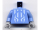 Part No: 973pb0355c01  Name: Torso Castle Knights Kingdom II with Jayko Pattern / Medium Blue Arms / Light Bluish Gray Hands