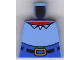 Part No: 973pb0412  Name: Torso SpongeBob with High Waist Blue Pants, Red Neck, Shirt Collar Pattern