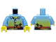 Part No: 973pb0566c01  Name: Torso Shirt with Sunset and Palm Trees Pattern / Medium Blue Arms / Yellow Hands