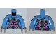 Part No: 973pb1364c01  Name: Torso Robot with Kraang and Control Harness Pattern / Medium Blue Arms / Light Bluish Gray Hands