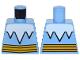Part No: 973pb2295  Name: Torso White Icicles Collar and Bright Light Orange Belt Pattern (Captain Cold)