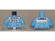 Part No: 973pb2297c01  Name: Torso Batman Pockets and Silver Control Unit with 3 Gauges, Belt with Silver Buckle Pattern / Medium Blue Arms / Light Bluish Gray Hands