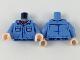 Part No: 973pb3096c01  Name: Torso Two Pocket Shirt with Red Bandana Pattern / Medium Blue Arms / Light Flesh Hands