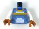 Part No: 973pb3301c01  Name: Torso Orange, Blue, Bright Light Orange, White, and Dark Bluish Gray Pixelated Armor Pattern / White Arms / Dark Orange Hands