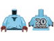 Part No: 973pb3493c01  Name: Torso SW V-Collar Shirt and Dark Blue Trim with '20 YEARS LEGO STAR WARS' on Back Pattern (Lando Calrissian) / Medium Blue Arms / Reddish Brown Hands