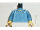 Part No: 973px174c01  Name: Torso Harry Potter Hermione Blouse Pattern / Medium Blue Arms / Yellow Hands