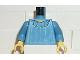 Part No: 973px174c01  Name: Torso Harry Potter Hermione Blouse Pattern / Medium Blue Arms / Yellow Hands
