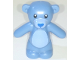 Part No: 98382pb009  Name: Teddy Bear with Black Eyes, Blue Nose and Mouth and Bright Light Blue Stomach and Muzzle Pattern (BAM)