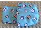 Part No: sleepbag02  Name: Duplo Cloth Sleeping Bag with Blue, White and Orange Flowers Pattern