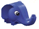 Part No: 10000  Name: Duplo Figure Head Animal 2 x 2 Base Elephant