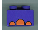 Part No: 3437pb019  Name: Duplo, Brick 2 x 2 with Elephant Foot Pattern