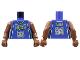 Part No: 973bpb135c01  Name: Torso NBA Milwaukee Bucks #34 Pattern / Brown NBA Arms