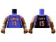 Part No: 973bpb137c01  Name: Torso NBA Toronto Raptors #15 (Road Jersey) Pattern / Brown NBA Arms