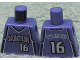 Part No: 973bpb150  Name: Torso NBA Sacramento Kings #16 Pattern
