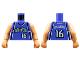 Part No: 973bpb150c01  Name: Torso NBA Sacramento Kings #16 Pattern / Nougat NBA Arms / Nougat Hands