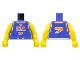 Part No: 973bpb155c01  Name: Torso NBA Player Number 7 Pattern / Yellow NBA Arms