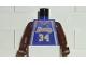 Part No: 973bpb181c01  Name: Torso NBA Los Angeles Lakers #34 (Road Jersey) Pattern / Brown NBA Arms