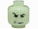 Part No: 3626bpb0002  Name: Minifigure, Head Male HP Snape with Arched Eyebrow and Squint Pattern - Blocked Open Stud