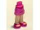 Part No: 11202c00pb03  Name: Mini Doll Friends Hips and Shorts, Light Flesh Legs and Magenta Sandals Pattern