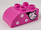 Part No: 2302pb16R  Name: Duplo, Brick 2 x 3 with Curved Top with White Polka Dots and Right Minnie Mouse Hand Pattern