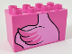 Part No: 31111pb054  Name: Duplo, Brick 2 x 4 x 2 with Flamingo Body Pattern