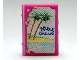 Part No: 33009pb028  Name: Minifigure, Utensil Book 2 x 3 with Holiday Brochure Palm Beach Pattern (Stickers) - Set 3117