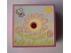 Part No: 33031pb04  Name: Container, Box 3.5 x 3.5 x 1.3 with Hinged Lid with Flowers, Sun and Bee Pattern (Sticker) - Sets 3119 / 3241
