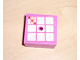 Part No: 33031pb06  Name: Container, Box 3.5 x 3.5 x 1.3 with Hinged Lid with 9 White Squares Pattern (Sticker) - Set 3117