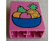 Part No: 4066pb057  Name: Duplo, Brick 1 x 2 x 2 with Fruit Bowl Pattern