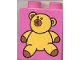 Part No: 4066pb080  Name: Duplo, Brick 1 x 2 x 2 with Teddy Bear Pattern
