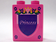 Part No: 4066pb346  Name: Duplo, Brick 1 x 2 x 2 with Shield - 'Princess' with Flowers Pattern